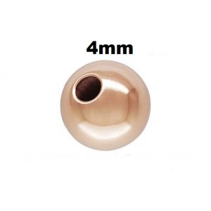 4RG - 4mm Rose Gold Filled Plain Round Bead