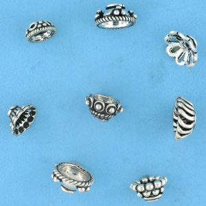 Bali Silver Bead Caps