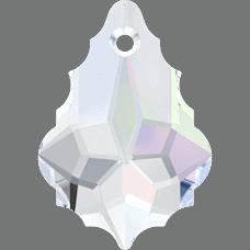 6090 - 16x11mm Swarovski Baroque Pendant - Crystal AB