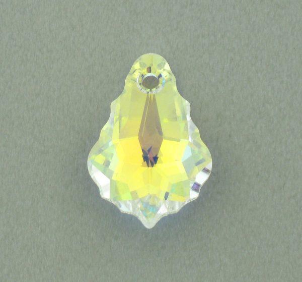 6090 - 22x15mm Swarovski Baroque Pendant - Crystal AB