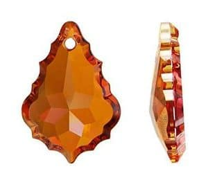 6091 - 50mm Swarovski Flat Baroque Pendant - Crystal Copper