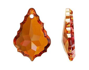 6091 - 50mm Swarovski Flat Baroque Pendant - Crystal Copper