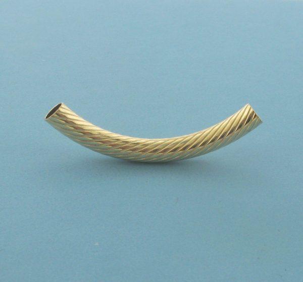 850-4 - 4x35mm Gold Filled Design Curved Tube