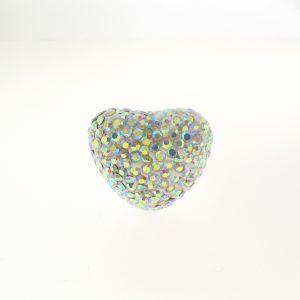 4222H -15x20mm Shamballa Heart