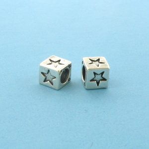 1312 - 5.5mm Sterling Silver Symbol/Character - Star