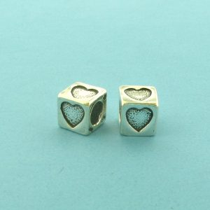 1316 - 5.5mm Sterling Silver Symbol/Character - Heart
