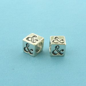 1320 - 5.5mm Sterling Silver Symbol/Character - &