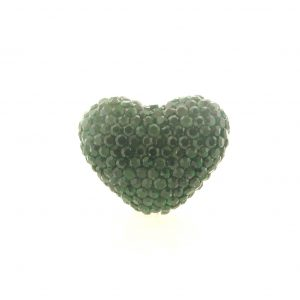 4222 -19x24mm Shamballa Heart - Emerald