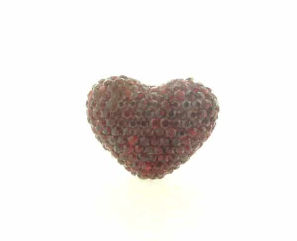 4222 -19x24mm Shamballa Heart - Siam