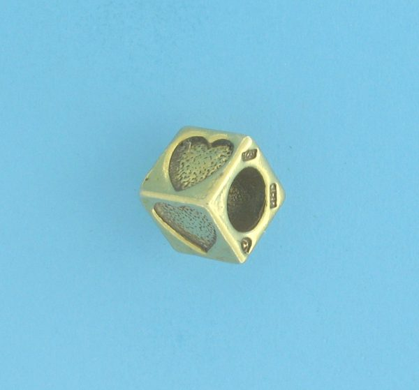 9801 - 5.5mm Gold Plated Character Beads - Heart