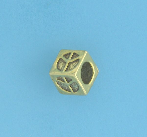 9803 - 5.5mm Gold Plated Character Beads - Peace
