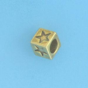 9802 - 5.5mm Gold Plated Character Beads - Star