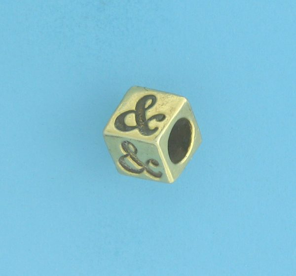 9808 - 5.5mm Gold Plated Character Beads - Smiley Face