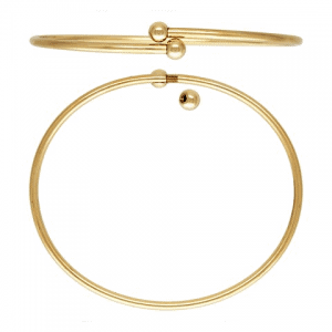 "12212 - 14K Gold Filled 7"" Flex Bangle (2.3mm) w/Threaded Balls"