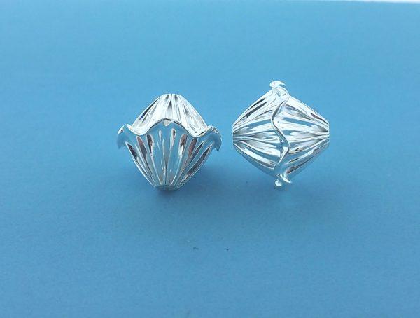 1547 - 13x14mm Sterling Silver Fancy Bead