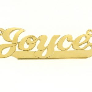 Name Plates For Necklace - Gold