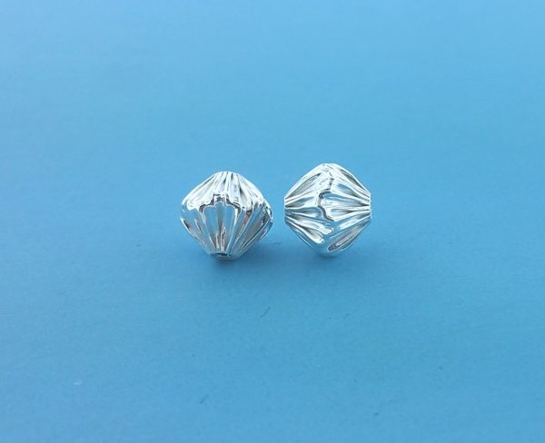 1546 - 8mm Sterling Silver Fancy Bead