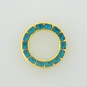37714 - Swarovski Multi Stone Setting Round - Blue Zircon