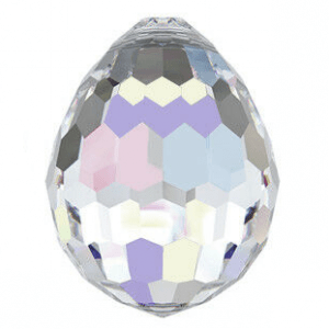 6002 - 10x7mm Swarovski Disco Oval Pendant - Crystal AB