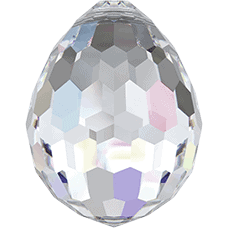6002 - 15x11.5mm Swarovski Disco Oval Pendant - Crystal AB