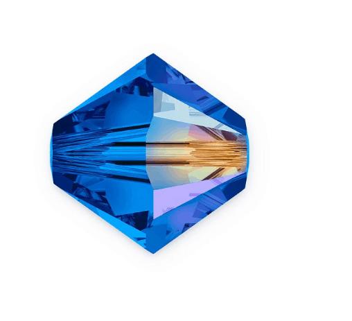 5301/5328 - 7mm Swarovski Bicone Crystal Bead - Sapphire AB