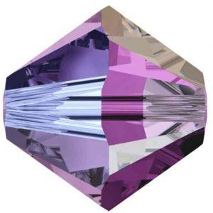 5301/5328 - 8mm Swarovski Bicone Crystal Bead - Amethyst AB2X
