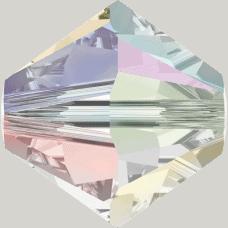 5301/5328 - 5mm Swarovski Bicone Crystal Bead - Crystal AB 2X (More Shine)