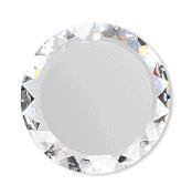 6049 - 30mm Swarovski Flat Disc Pendant - Crystal AB