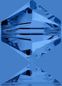 5301/5328 - 7mm Swarovski Bicone Crystal Bead - Capri Blue