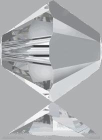 5301/5328 -6mm Swarovski Bicone Crystal Bead- Comet Argent Light