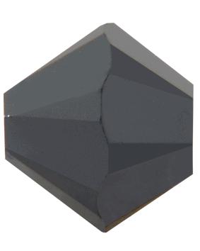 5301/5328 - 7mm Swarovski Bicone Crystal Bead - Jet Hematite 2X