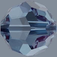 5000 - 8mm Swarovski Faceted Round Bead - Denim Blue