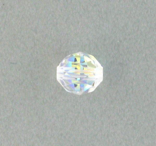 5025 - 8mm Swarovski Round Faceted Crystal Bead - Crystal AB