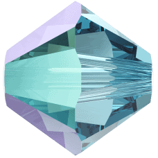 5301/5328 - 3mm Swarovski Bicone Crystal Bead - Aquamarine Shimmer