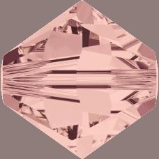 5301/5328 - 3mm Swarovski Bicone Crystal Bead - Blush Rose