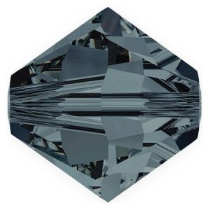 5301/5328 - 6mm Swarovski Bicone Crystal Bead - Graphite