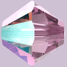 5301/5328 - 3mm Swarovski Bicone Crystal Bead - Light Amethyst Shimmer