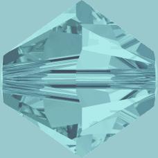 5301/5328 - 6mm Swarovski Bicone Crystal Bead - Light Turquoise