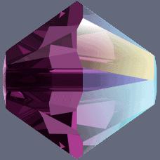 5301/5328 - 3mm Swarovski Bicone Crystal Bead - Amethyst Shimmer