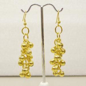 ER-134 - Gold Finish Bell Earring