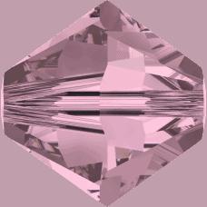 5301/5328 - 4mm Swarovski Bicone Bead - Crystal Antique Pink