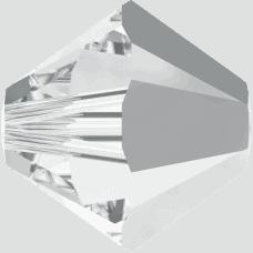 5301/5328 - 6mm Swarovski Bicone Crystal Bead - Crystal Light Chrome