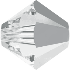 5301/5328 - 4mm Swarovski Bicone Bead - Crystal Light Chrome