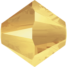 5301/5328 - 6mm Swarovski Bicone Crystal Bead - Crystal Metallic Sunshine