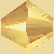 5301/5328 - 3mm Swarovski Bicone Crystal Bead - Metallic Sunshine