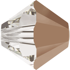 5301/5328 - 4mm Swarovski Bicone Bead - Crystal Rose Gold