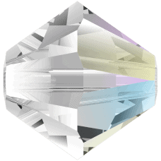 5301/5328 - 3mm Swarovski Bicone Crystal Bead - Crystal Shimmer