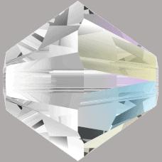5301/5328 - 4mm Swarovski Bicone Bead - Crystal Shimmer