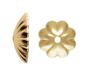 314L - 6mm Gold Filled Bead Cap
