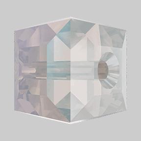 5601 - 6mm Swarovski Cube Crystal - White Opal Shimmer
